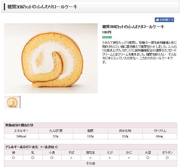 糖質カットケーキ